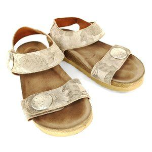 Taos Sandals 5 - 5.5 Casual Strappy Gray Leather